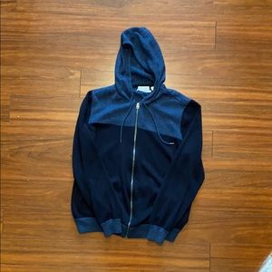 Calvin Klein hooded zip up sweater